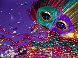 Mardi Gras - New Orleans - A cColorful Mask